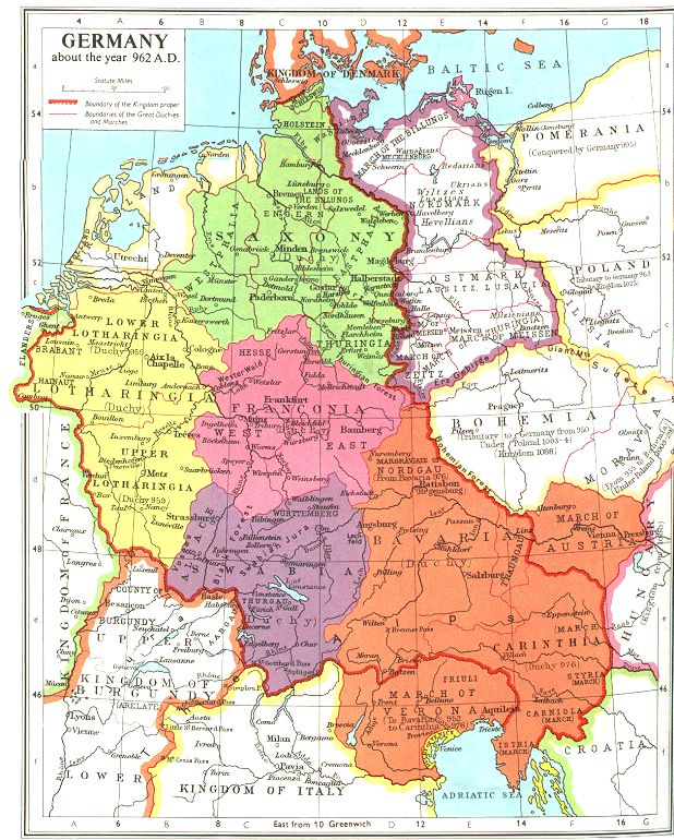 German History - Germany map by year
